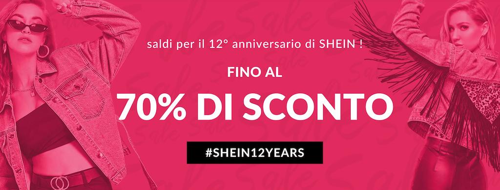 Saldi per il 12° anniversario di shein